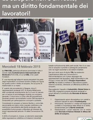 Lo sciopero non e' un reato ma un diritto
