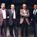 Foto di gruppo Raffaele Morese, Franco Bentivogli, Pierre Carniti, Gianni Italia
