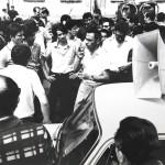 Pierre Carniti davanti Marelli anni 60