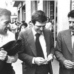 Bruno Trentin, Giorgio Benvenuti e Franco Bentivogli - Assemblea Torino maggio 1976