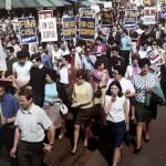 Manifestazione anni 60
