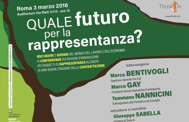 Quale futuro per la rappresentanza 3 marzo fim cisl H