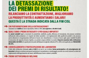 Volantino Detassazione FIM CISL 2016