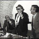 Inaug. Romitorio da sinistra Giovanni Avonto, Pippo Morelli, Luigi Macario, Bruno Provasi