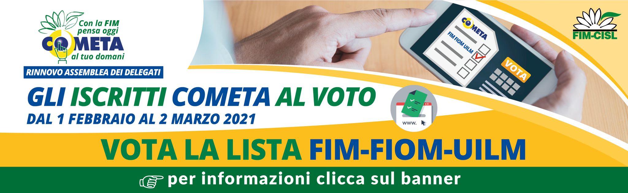 Gli iscritti cometa al voto